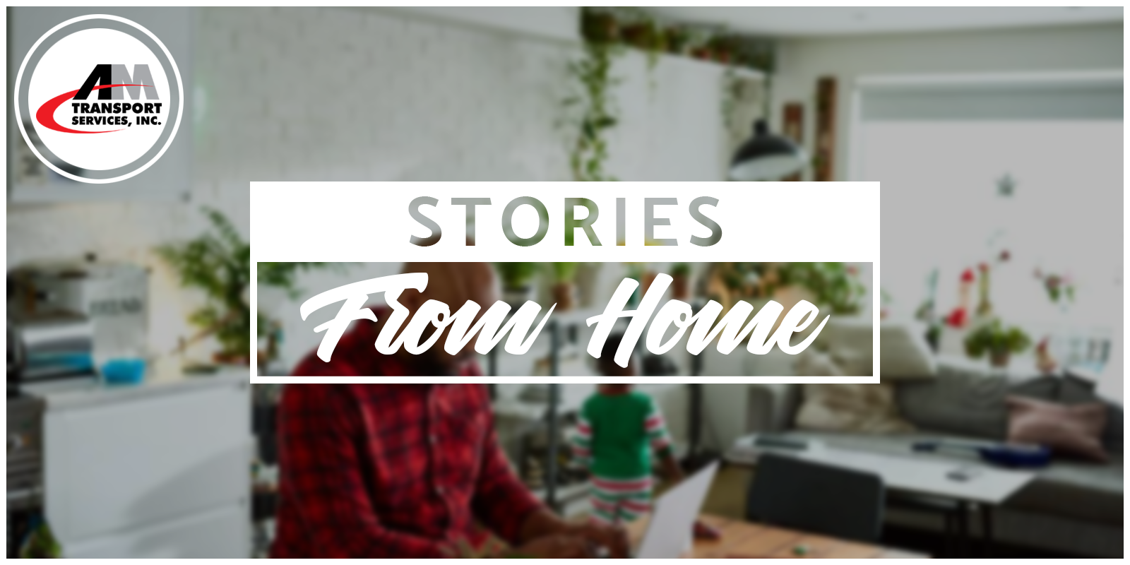 picture of person in home office with tagline: Stories from Home