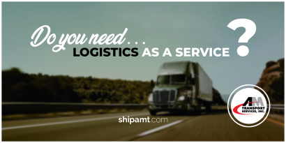 Picture of truck, highway with question: Do You need logistics as a service?