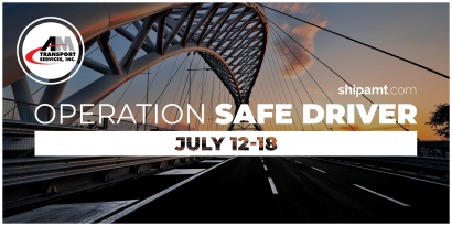 Picture of bridge and roadway with title: Operation Safe Driver July 12-18