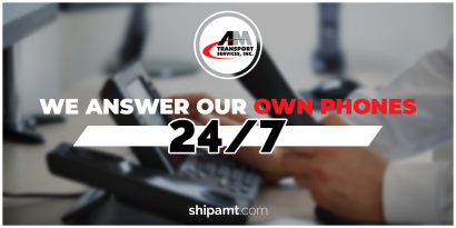 Picture of a phone with title: We answer our own phones 24/7.