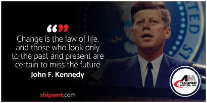 picture of John F. Kennedy and quote.