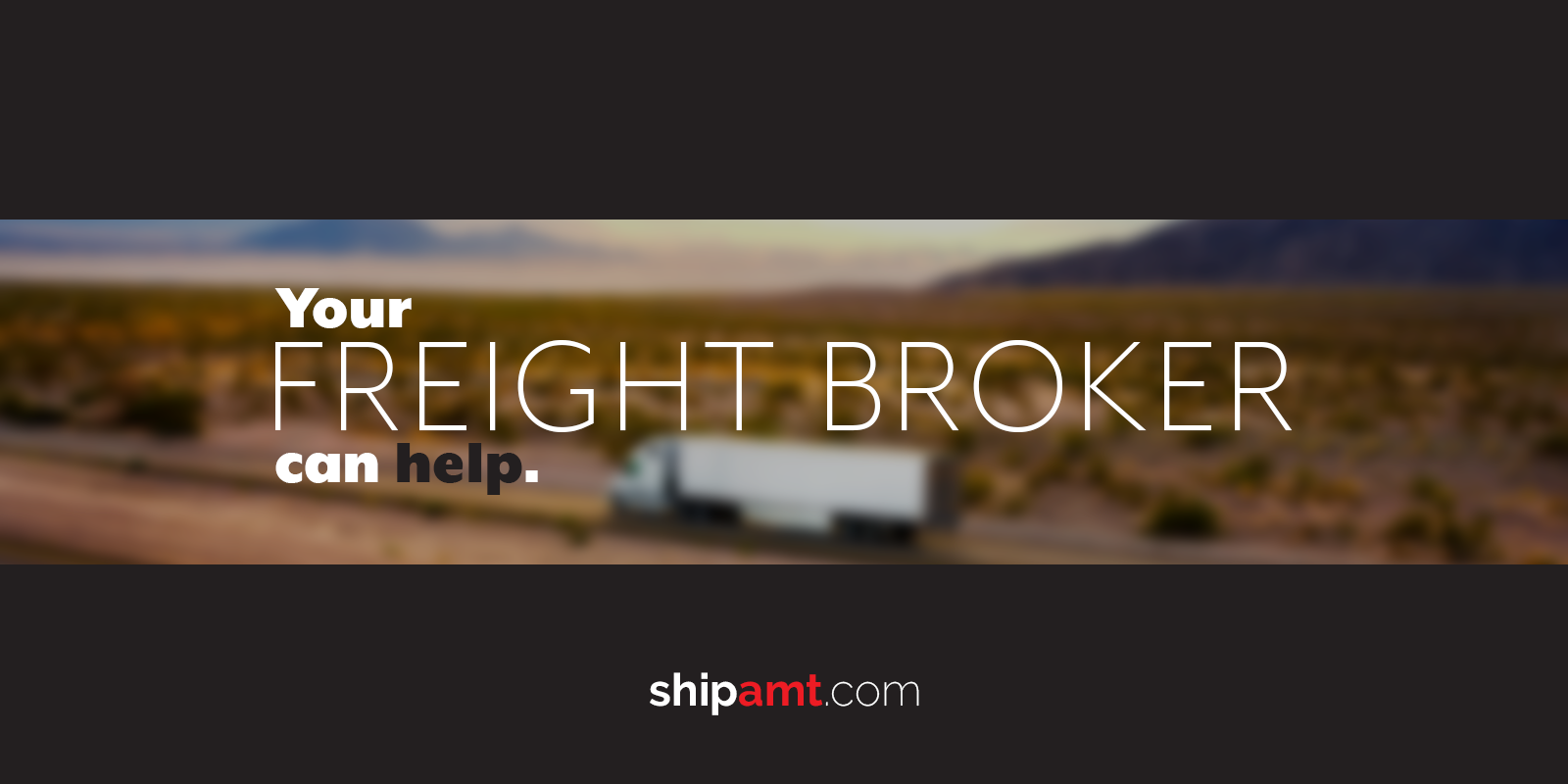 Your freight broker can help